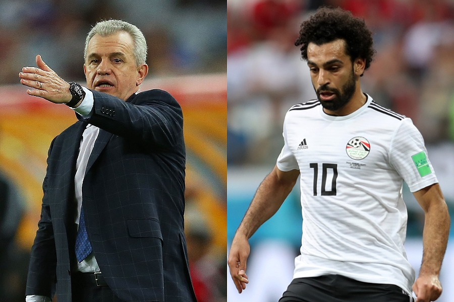 エジプト代表を率いるアギーレ監督とエースFWサラー【写真:Getty Images】
