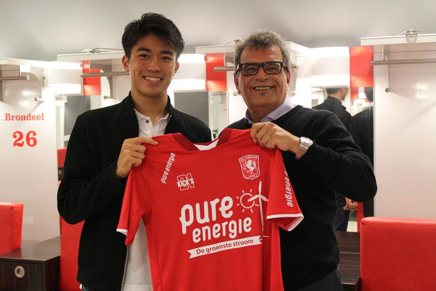 中村敬斗が加入したトゥウェンテが、インスタグラムの日本語アカウントを開設した【写真:FC TWENTE】