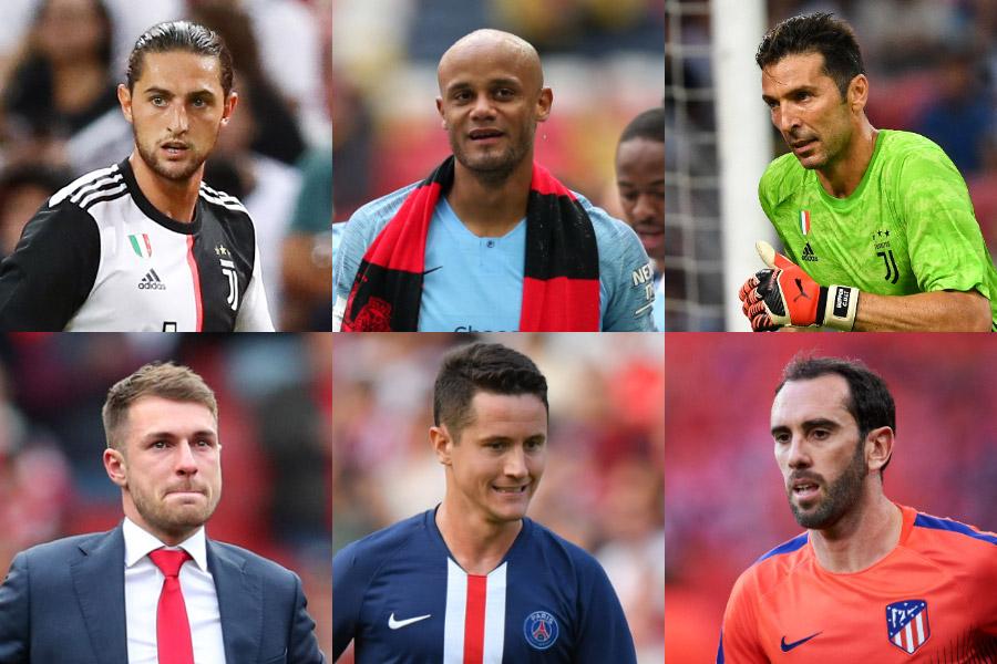 今夏の移籍市場で生まれた「ビッグなフリー移籍6選」を英サッカーサイトが発表【写真:Getty Images】
