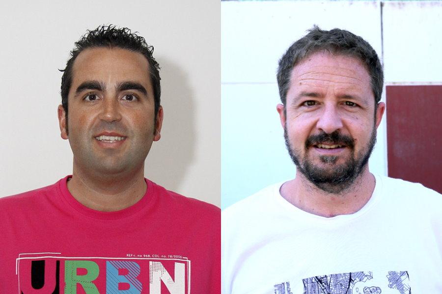 セバスティア・アドロベール記者(左)とカルロス・ロマン記者【写真:本人提供】