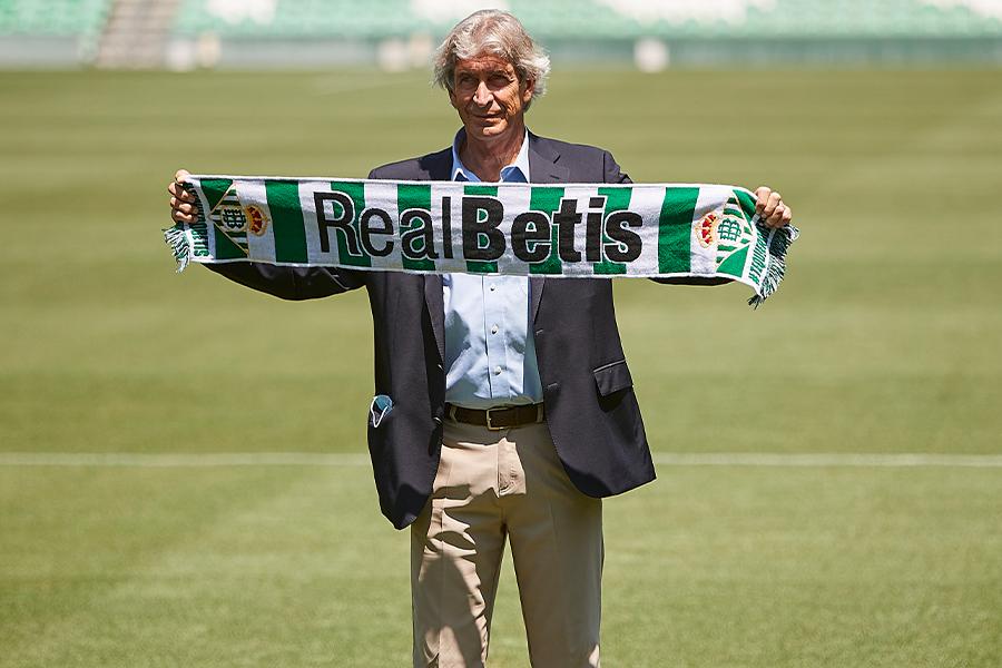 7月9日にレアル・ベティスの監督に就任したばかりのペジェグリーニ監督【写真:Getty Images】