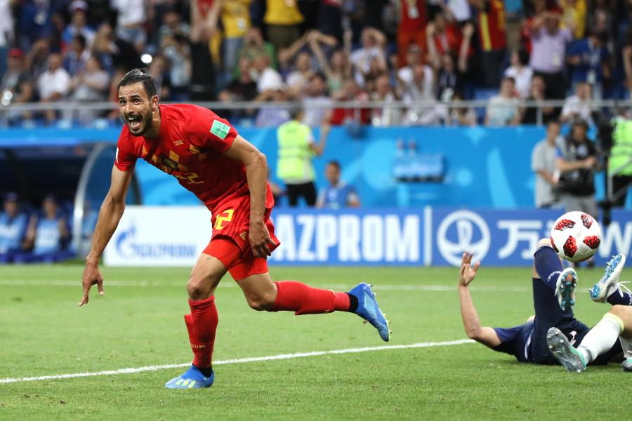 ロシアW杯の日本戦で決勝ゴールを決めたベルギー代表MFナセル・シャドリ【写真:Getty Images】