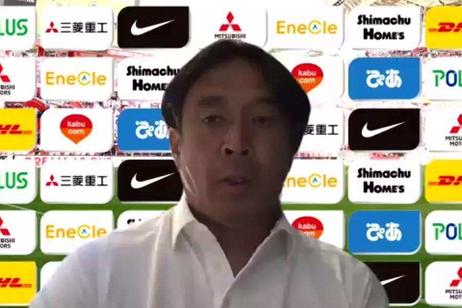 浦和レッズの大槻監督【※画像はスクリーンショットです】
