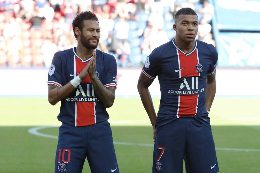 PSGのネイマール(左)とムバッペ【写真:Getty Images】