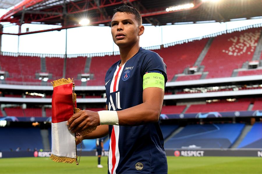 PSGとの契約満了を迎えるDFチアゴ・シウバ【写真:Getty Images】
