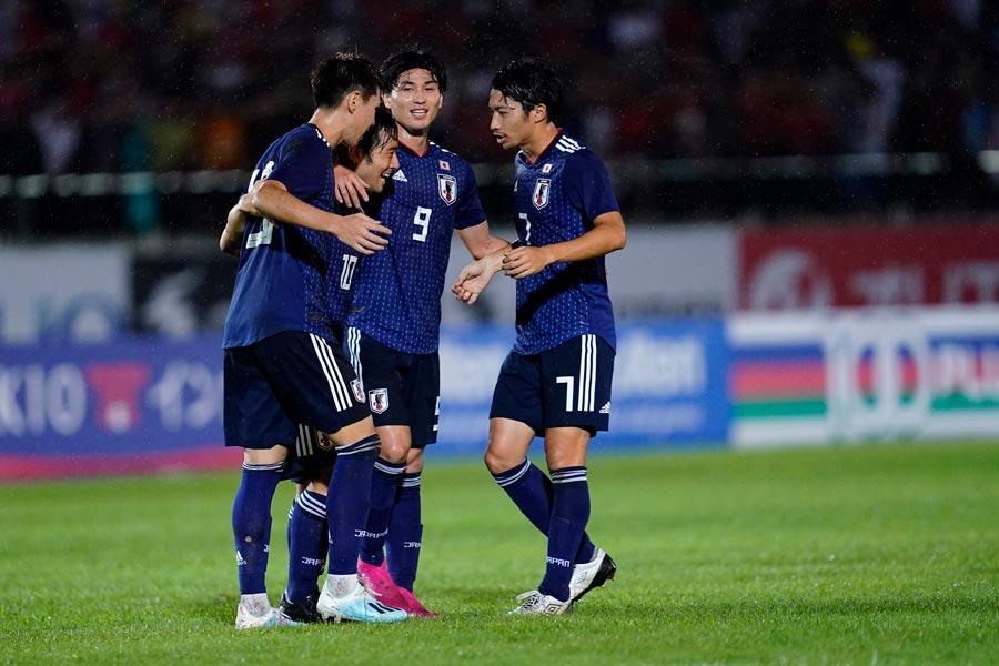 カタールW杯2次予選初戦のミャンマー戦に勝利した日本代表【写真:Yukihito Taguchi】