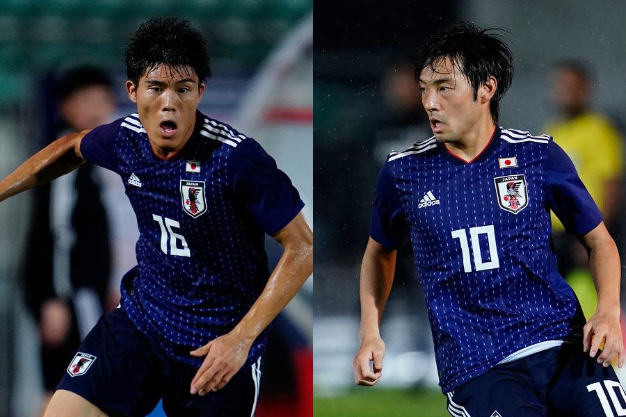 (左から)日本代表DF冨安、MF中島【写真:Yukihito Taguchi】