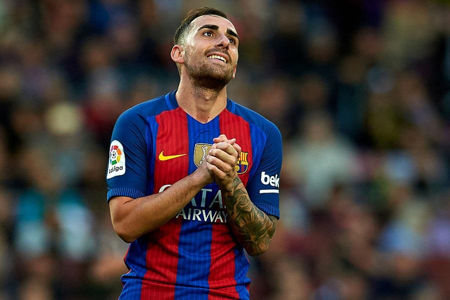 バルセロナ時代のFWパコ・アルカセル【写真:Getty Images】