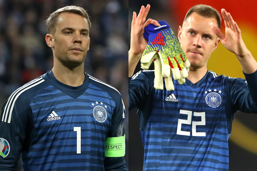 (左から)ドイツ代表GKノイアー、GKテア・シュテーゲン【写真:Getty Images】
