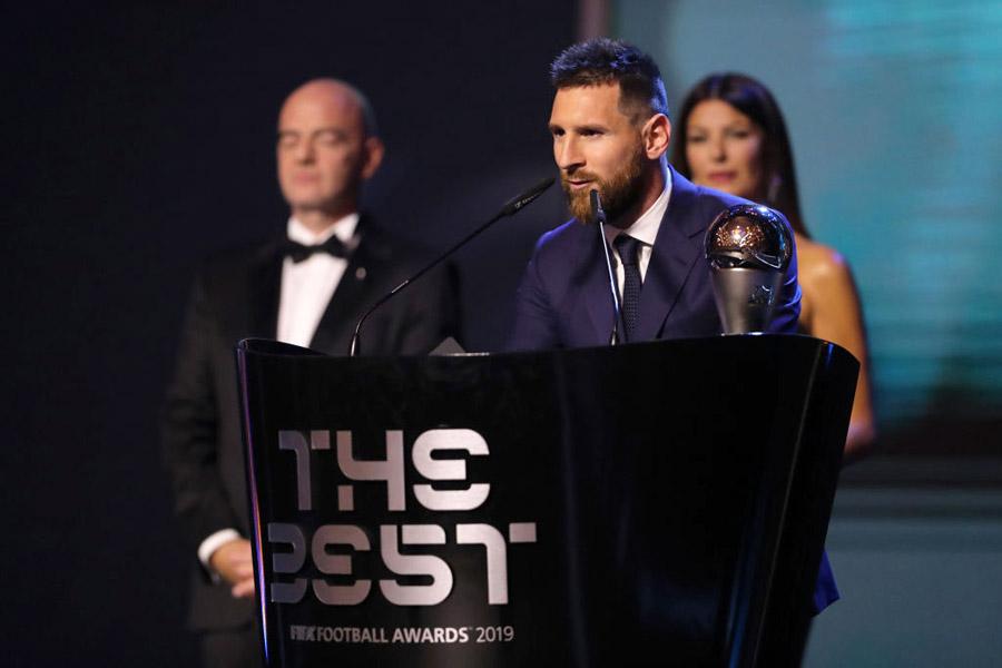 FIFA年間最優秀選手賞を受賞したバルセロナFWメッシ【写真:Getty Images】