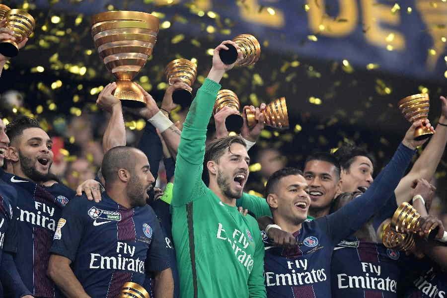 クープ・ドゥ・ラ・リーグで最多優勝を誇るパリ・サンジェルマン【写真:Getty Images】