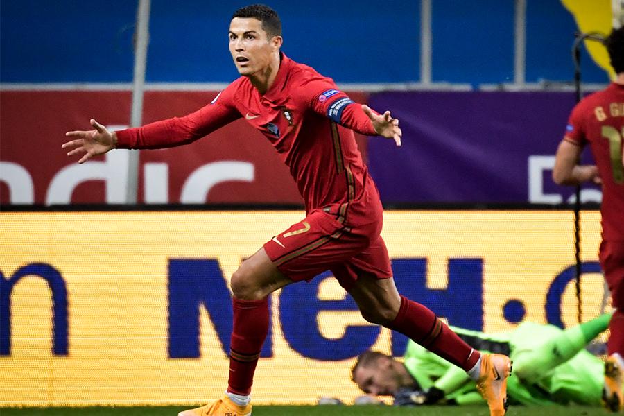 スウェーデン戦で2ゴールを決めたポルトガル代表FWクリスティアーノ・ロナウド【写真:AP】