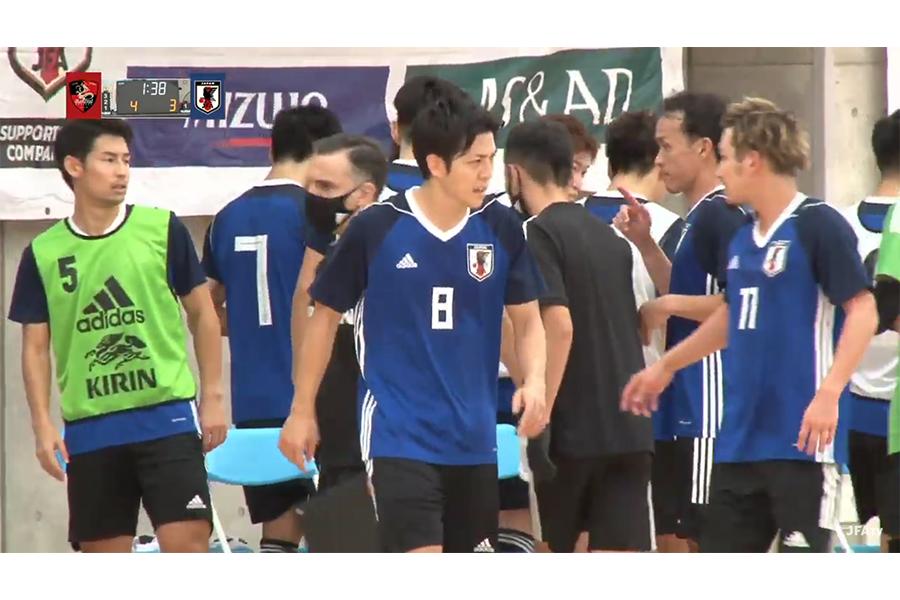 フットサル日本代表がバルドラール浦安とトレーニングマッチを行った【写真:(C)JFA/PR】