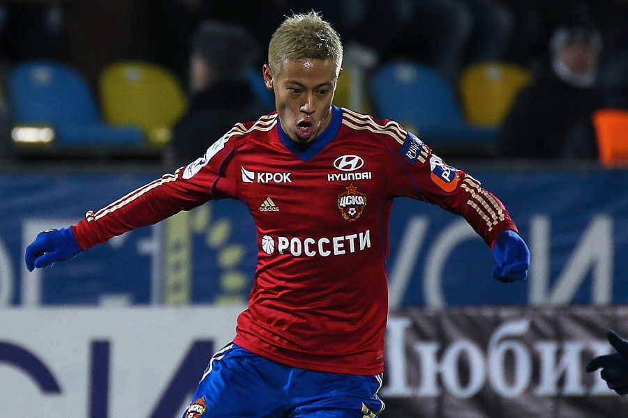 CSKAモスクワ時代の本田圭佑【写真:Getty Images】