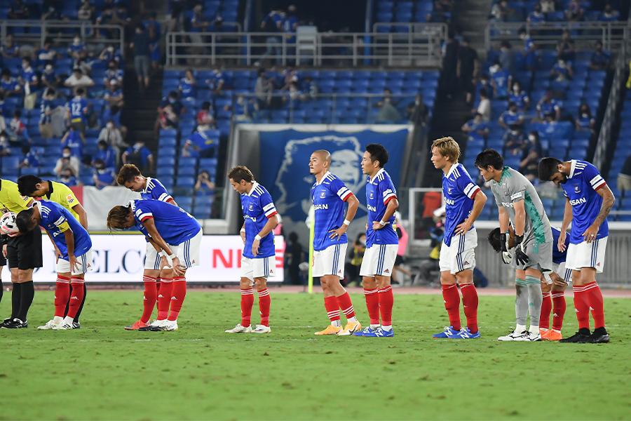 18試合を消化した時点で暫定8位と波に乗り切れていない横浜F・マリノス【写真:小林 靖】