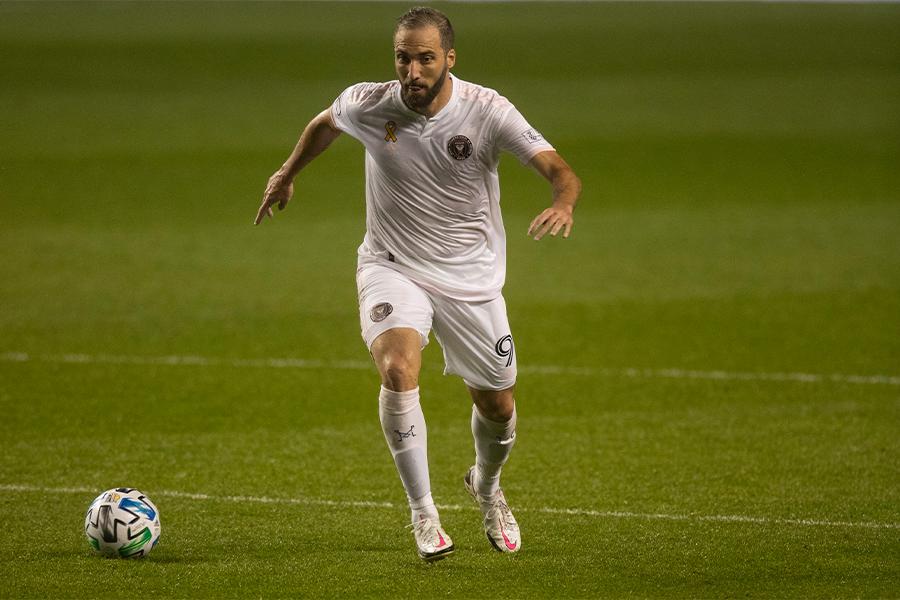 MLSのインテル・マイアミに移籍をしたFWゴンサロ・イグアイン【写真:Getty Images】
