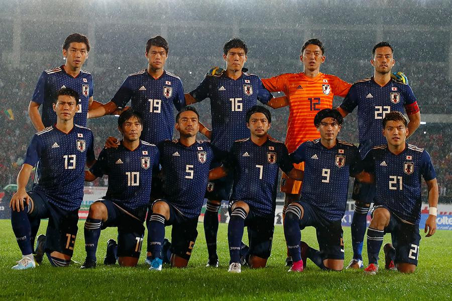 日本代表、W杯予選10月2連戦に挑む23名を発表 (写真は9月ミャンマー戦のもの)【写真:Yukihito Taguchi】