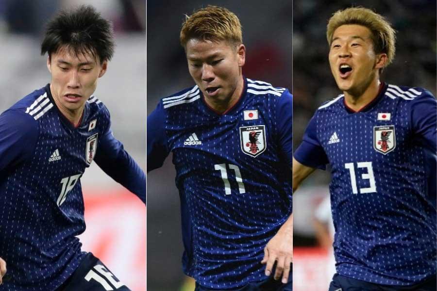 10月のW杯予選2試合、FWは鎌田、浅野、永井の3人となった【写真:Getty Images】