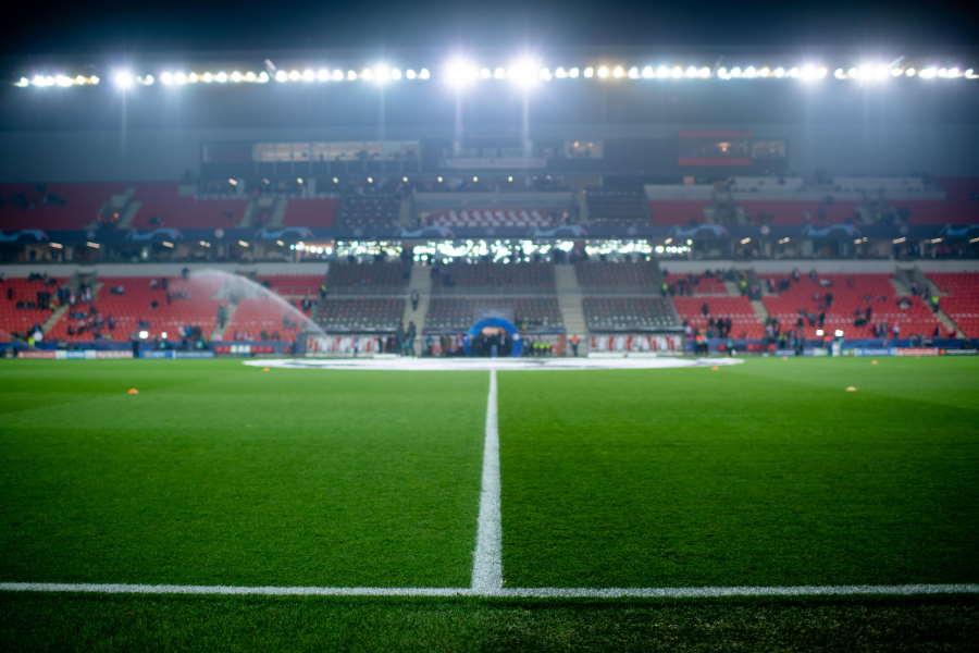 バルサと対戦したスラビア・プラハのホームスタジアム【写真:Getty Images】