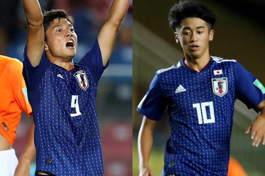 U-17日本代表の西川(右)&若月コンビ【写真:Getty Images】