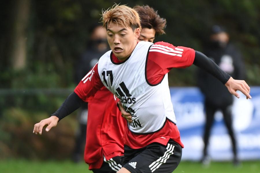 日本代表MF堂安律【写真:©JFA】