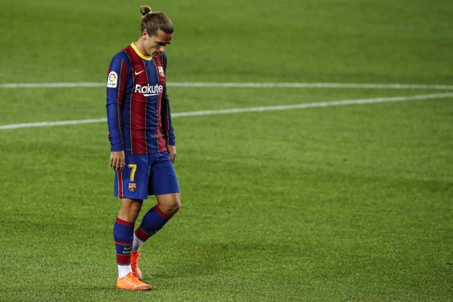 グリーズマンはバルセロナで本領を発揮できていない【写真:Getty Images】