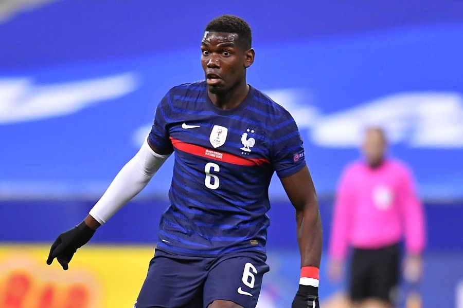 フランス代表としてプレーするポグバ【写真:Getty Images】