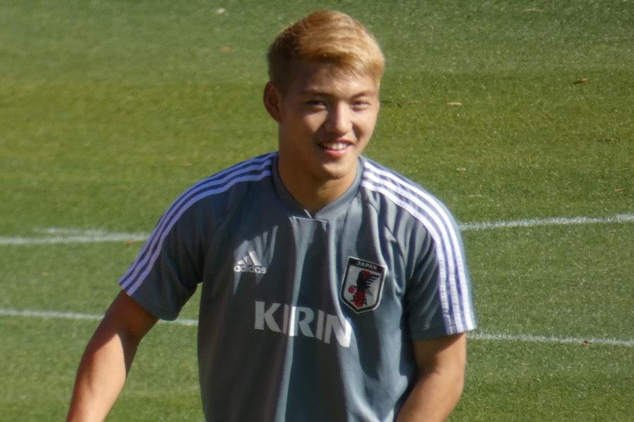 U-22日本代表MF堂安律【写真:Football ZONE web】