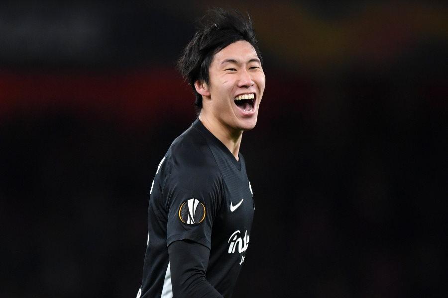 アーセナルを相手に2ゴールを記録したフランクフルトの日本代表MF鎌田大地【写真:Getty Images】