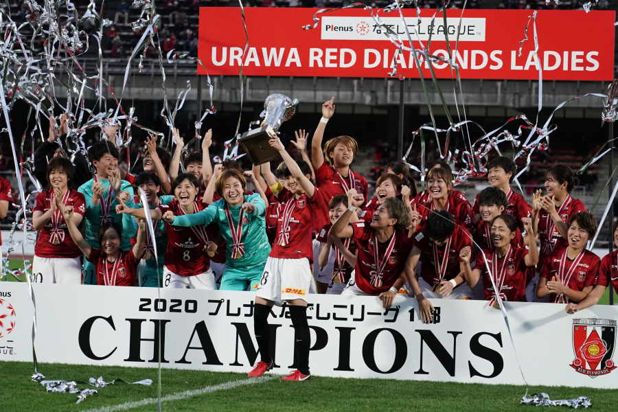 6年ぶりのリーグ優勝をした浦和レッズレディース【写真:Getty Images】