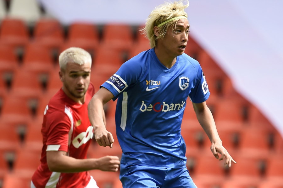 1ゴール1アシストの活躍でチームの勝利に貢献したベルギー1部ヘンクの日本代表MF伊東純也【写真:Getty Images】