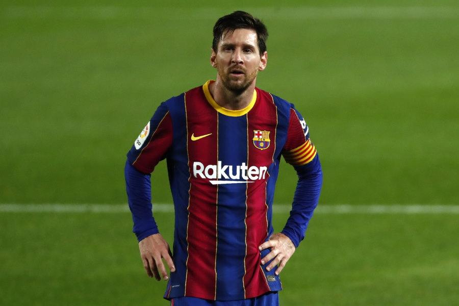 対団の噂が絶えないバルセロナのアルゼンチン代表FWリオネル・メッシ【写真:AP】