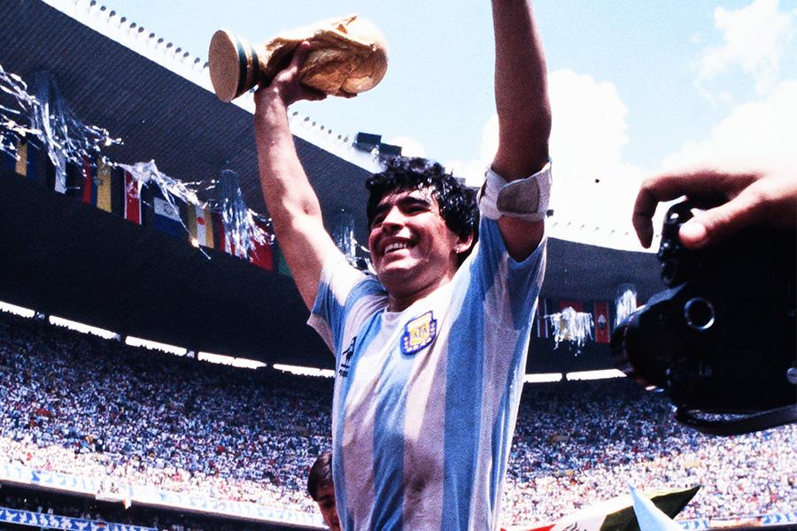 1986年のワールドカップで優勝を果たしたマラドーナ氏【写真:Getty Images】