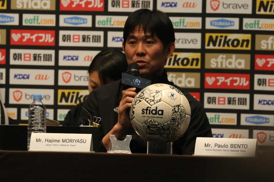 最終戦となる韓国戦にも触れた日本代表の森保監督【写真:Football ZONE web】