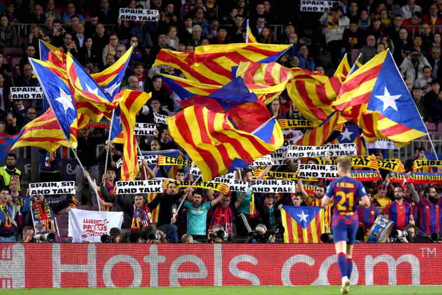 バルセロナのサポーター(※写真はイメージです)【写真:Getty Images】