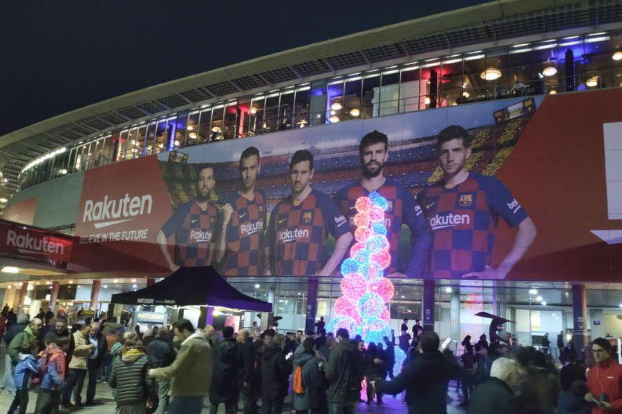 バルセロナ本拠地、カンプ・ノウの外観【写真:Football ZONE web】