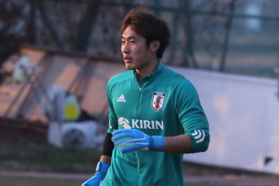 日本代表GK大迫敬介【写真:Football ZONE web】
