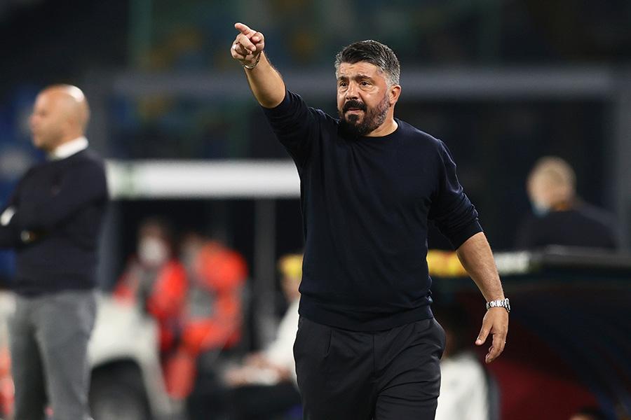 ジェンナーロ・ガットゥーゾ監督がナポリとの契約を延長か【写真:AP】