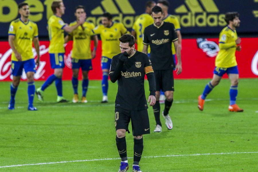 早くも今季4敗目を喫したバルセロナ【写真:AP】