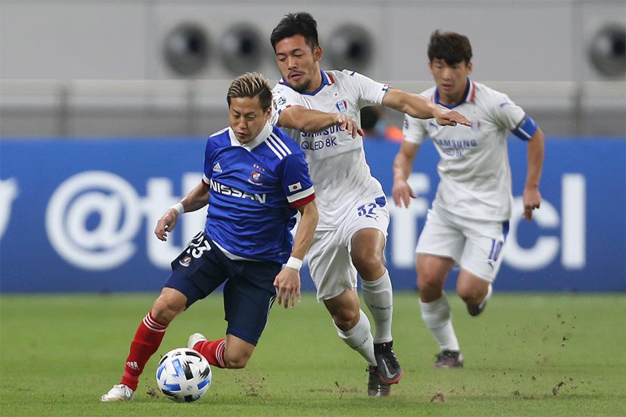 AFCチャンピオンズリーグベスト16で奮闘した横浜F・マリノスFW仲川輝人【写真:AP】