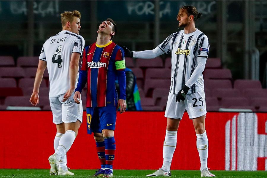 バルセロナはユベントスに3失点で敗れた【写真:AP】