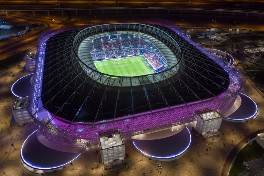 カタールW杯会場の一つであるアハマド・ビン・アリ・スタジアム【写真:カタールW杯大会組織委員会】