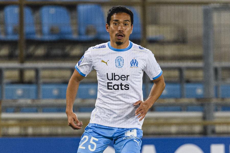 痛恨のオウンゴールを犯してしまったマルセイユの日本代表DF長友佑都【写真:Getty Images】