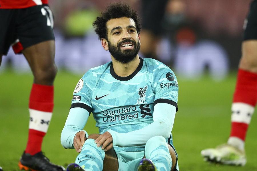 退団が噂されているリバプールのエジプト代表FWモハメド・サラー【写真:AP】