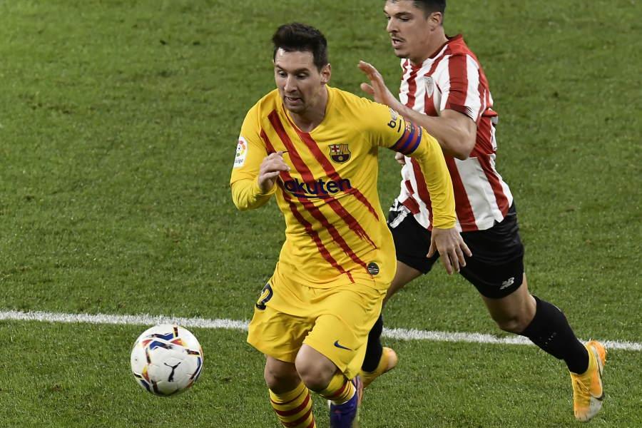 2ゴールを奪ったバルセロナのアルゼンチン代表FWリオネル・メッシ【写真:Getty Images】