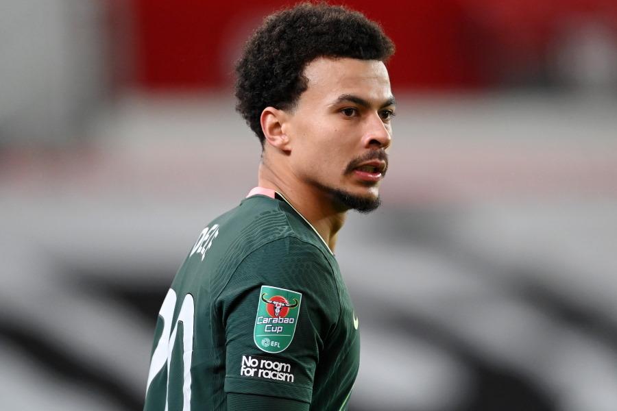 わずか4試合の出場にとどまっているトッテナムのイングランド代表MFデレ・アリ【写真:Getty Images】