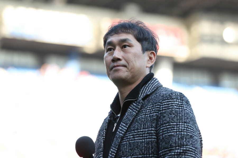 横浜FMのOB、元韓国代表MFユ・サンチョル氏【写真:高橋学】