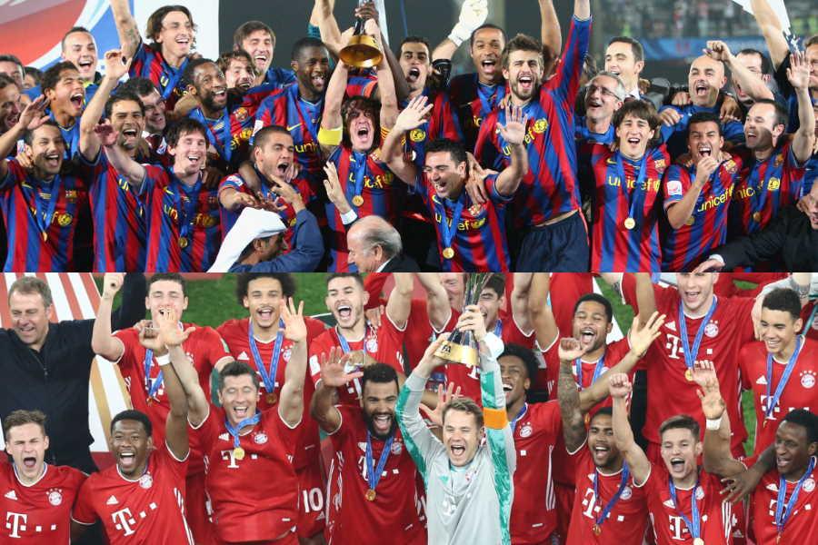 2009年のバルセロナ以来となる6冠を達成したバイエルン・ミュンヘン【写真:Getty Images & AP】
