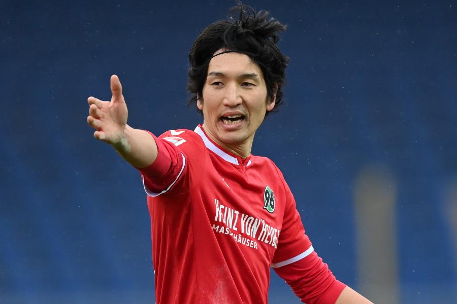 退団する可能性が高いハノーファーに所属する日本代表MF原口元気【写真:Getty Images】