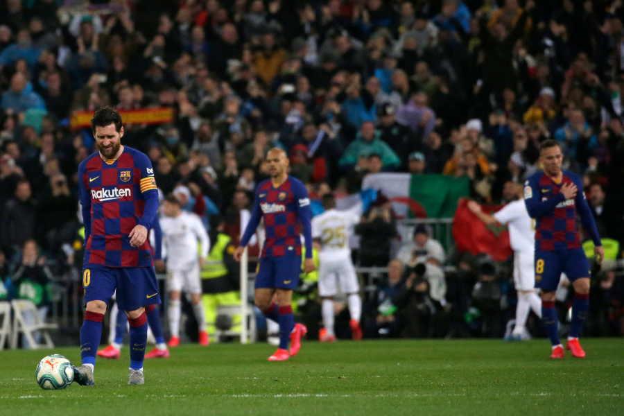 バルセロナはレアル・マドリードとの「エル・クラシコ」で敗戦【写真:AP】
